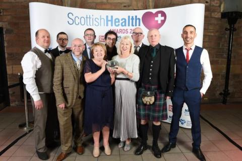 A group of people at the Scottish Health Awards